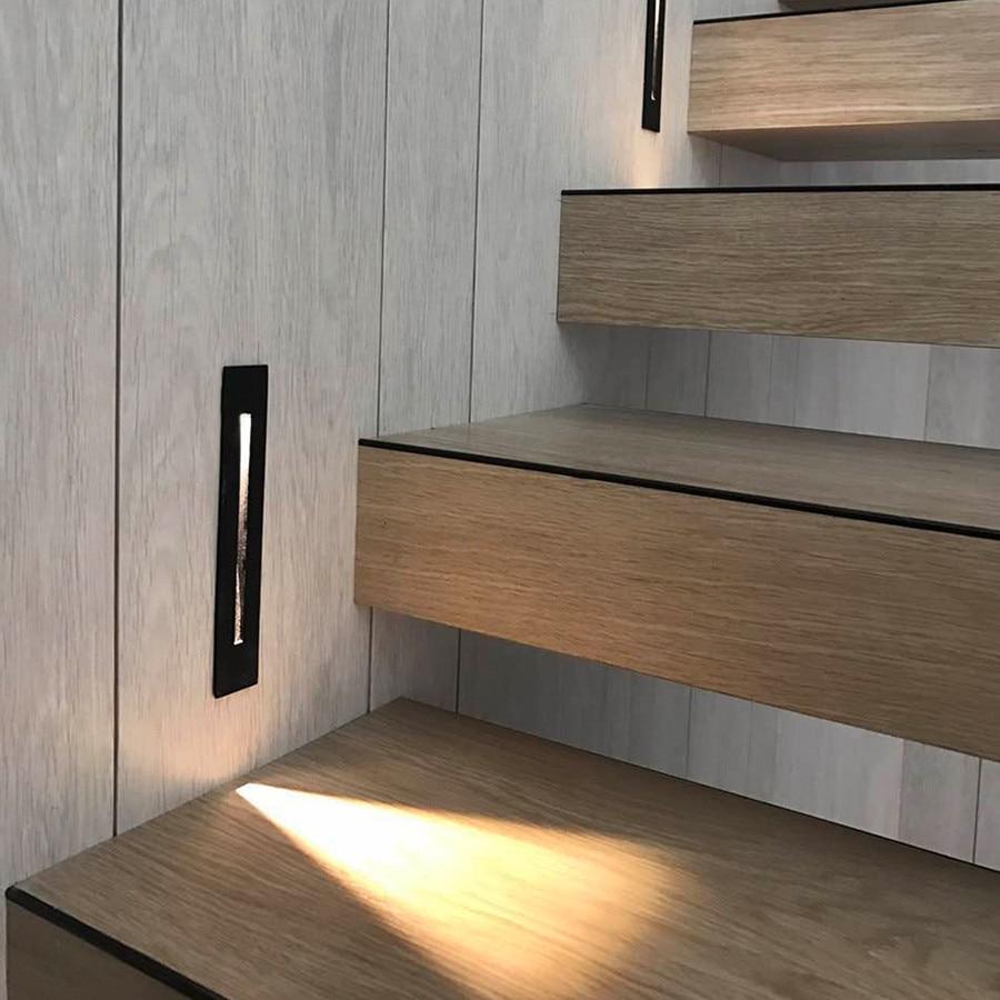 Beiaidi 3W Outdoor Modern Brief Led Step Light Waterproof Cob Chip | Modern Stairs Design Outdoor | Indoor | Prefab Metal Residential Exterior | Terrace | Metal | Railing
