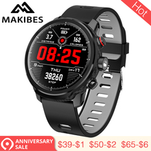 Купить с кэшбэком 3.28 Makibes L5 Smart Watches Standby for 100 days IP68 waterproof Weather Smartwatch Support Led lighting Message call reminder