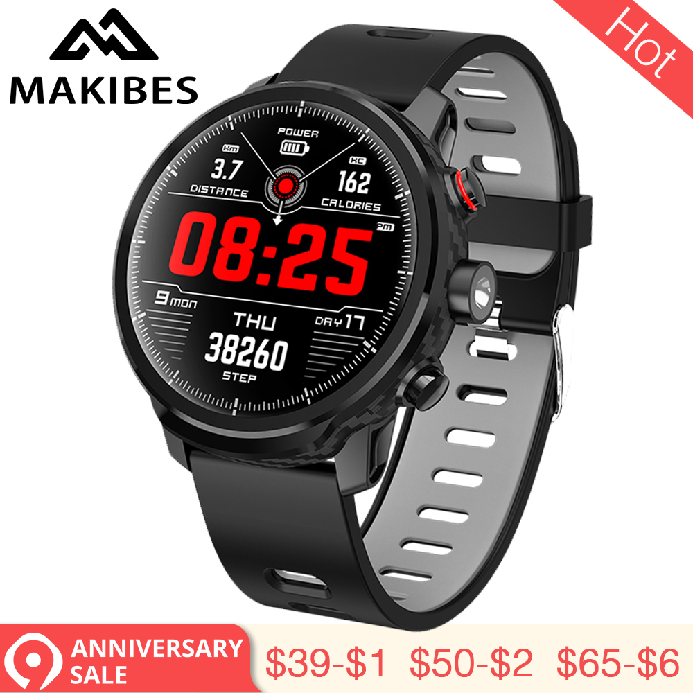 3.28 Makibes L5 Smart Watches Standby for 100 days IP68 waterproof Weather Smartwatch Support Led lighting Message call reminder
