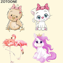 ZOTOONE Cute Animal Patch Cartoon Iron on Patches for Clothes A-level Washable Heat Transfer Print T-shirt Dresses Bags E