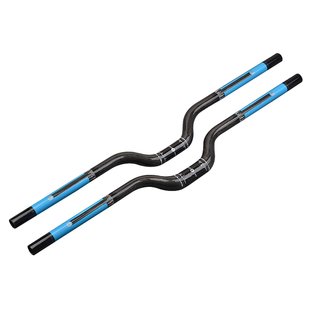 Wanyifa full carbon fiber riser handlebar mtb use 3K finish 25.4/31.8*600/620/640/660/680/700/720/740mm