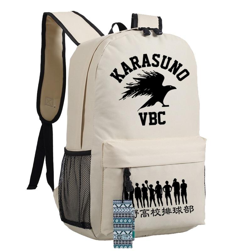 Anime Haikyuu Backpack Oxford karasuno Schoolbags Unisex Travel Laptop Bag Gift