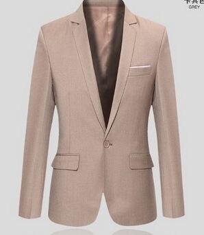Новое поступление топ костюм для мужчин осенний мужской повседневный Блейзер корейский тонкий пиджак мужской блейзер 6 цветов S-6XL 030602 - Цвет: 5