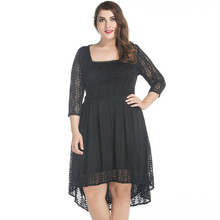 2017 New Women Spring Summer Elegant Vintage Lace Clothing Party Casual Dress Plus Size 5XL 6XL 7XL Vestidos