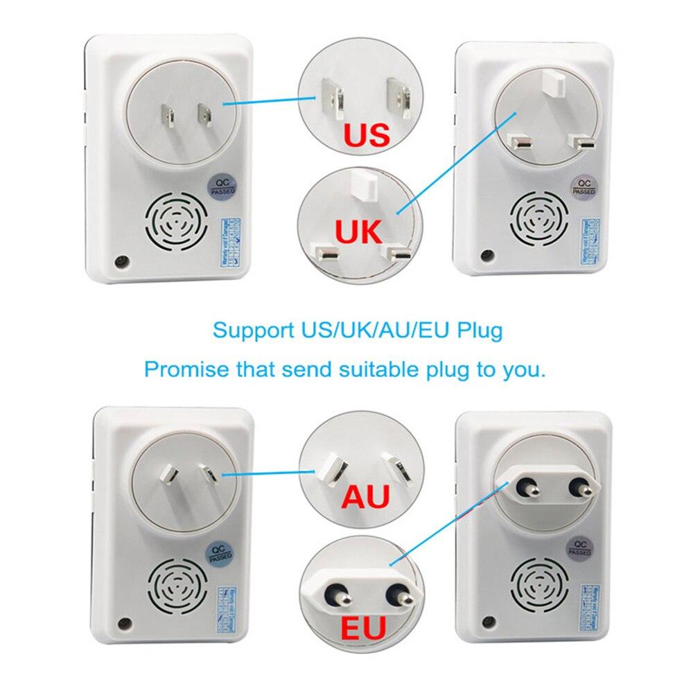 Купить с кэшбэком Self Powered Waterproof Wireless Doorbell Night Light No Battery EU/AU/UK/US Plug Home Smart Door Bell 1or2 Button 1or2 Receiver