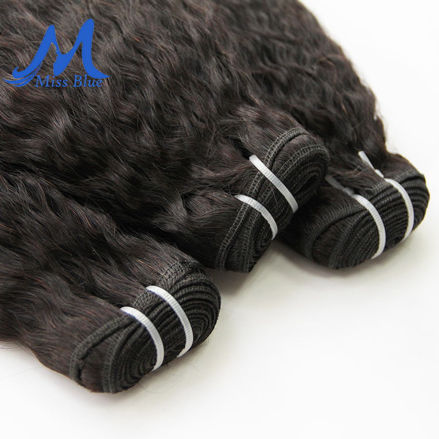 Missblue Kinky Straight Hair brazilian hair weave bundles 1 3 4 Pieces Remy Human Hair Bundle Coarse Natural Color 6