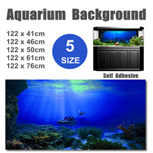 Fish-Tank-Decorations Poster Aquarium Background Seabed Landscape Wreck PVC 5-Size Self-Adhesive