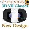 Novo Design Fiit VR 2 S Óculos De Realidade Virtual Óculos 3D cinema óculos de vídeo google papelão vr para 4-6.5 'smart telefone