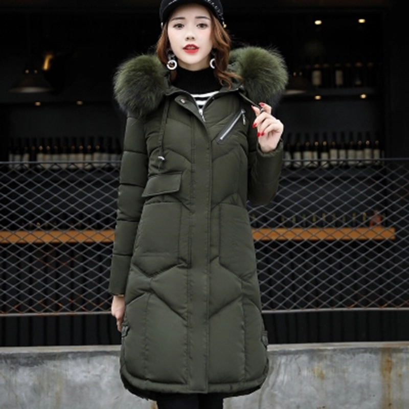 Il Della F634 Donne Dell'esercito Formato Di rosso Imbottito grigio Lungo Inverno Collo Parka Nero Più Giacca Medio Elegante verde Rosa Grande Cotone Cappotto Signora 2018 Delle Outwear Pelliccia colore nP4x8qwq1