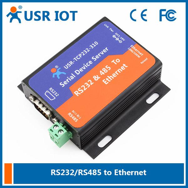 ФОТО Q036 USR-TCP232-310 Serial RS232/RS485 to Ethernet TCP/IP Server with DHCP and Built-in Webpage, USR-TCP232-300 Upgraded