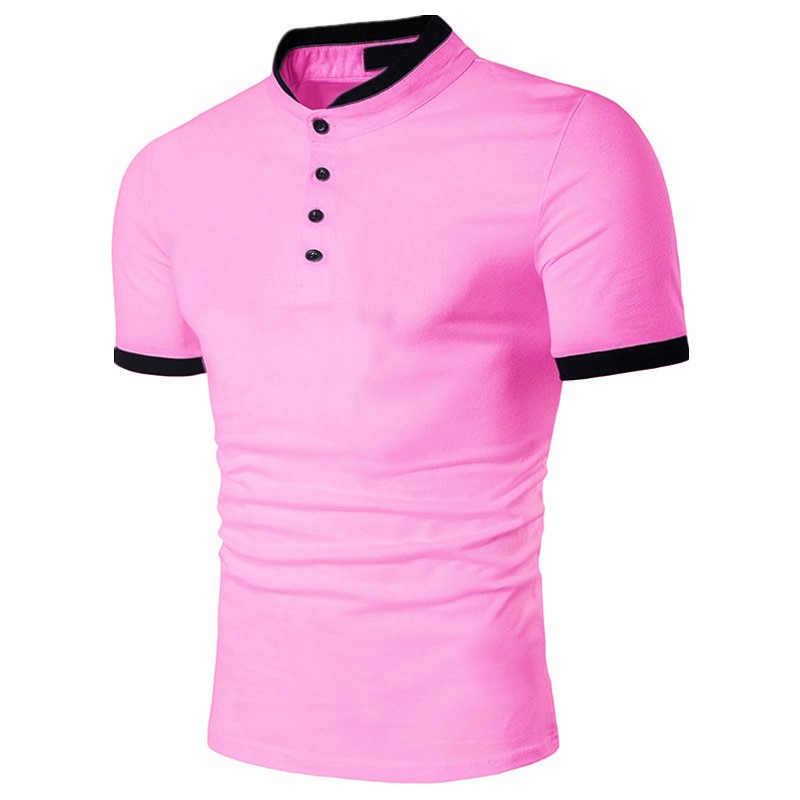 ZOGAA Plus Size S-3XL 2019   Polo   Shirts Men Cotton Short Sleeve Casual Shirts Pink Summer Breathable   Polo   Shirt Men Brand   Polos