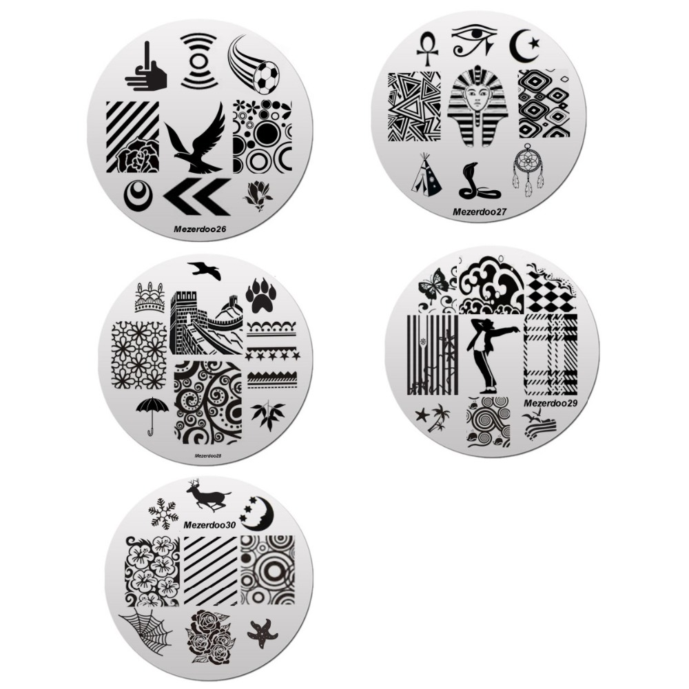 1 дана 240Slots Nail Stamping Plate Holder Case + 10 дана - Маникюр - фото 3
