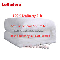 LeRadore100% Mulberry Silk Comforter Filling Without Quilt Cover Customize Super Quilt Mulberry Silk 500G Filling Silk Comforter