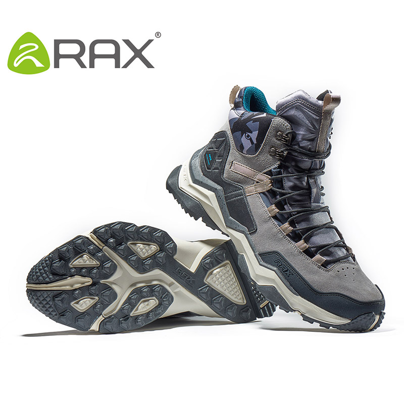 RAX Waterproof Hiking Boots Lightweight Outdoor Sports Sneakers for Men Professional Mountain Climbing Boots Winter Leather Shoe