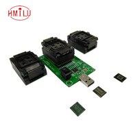 eMMC eMCP test socket 3 in1 socket with USB Interface, for BGA153/169 BGA162/186 BGA221, smart phone data recovery test solution