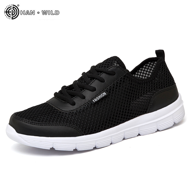 27c01822a1edc9 2018 Men Shoes Summer Sneakers Breathable Casual Shoes Couple Lover Fashion  Lace up Mens Mesh Flats Shoe Big Plus Size