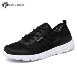 2018 Мужская обувь летние кроссовки дышащая повседневная обувь пара Любовник мода на шнуровке мужские сетчатые туфли на плоской подошве
