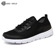 2018 Men Shoes Summer Sneakers Breathable Casual Shoes Couple Lover Fashion Lace up Mens Mesh Flats Shoe Big Plus Size