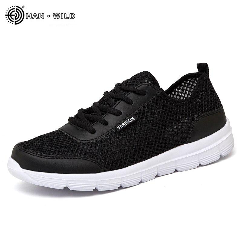 2018 Sapatos Masculinos de Verão Tênis Respirável Sapatos Casuais Casal Amante Da Moda Lace up Mens Flats Malha Sapato Grande Plus Size