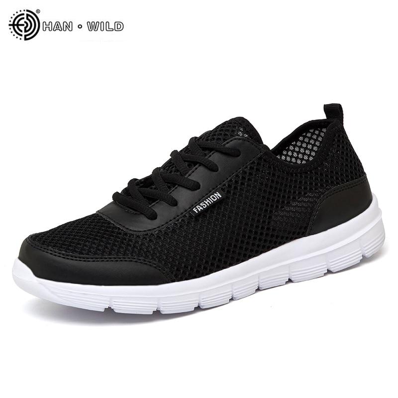 2018 zapatos de hombre zapatillas de verano transpirables zapatos casuales pareja amante moda encaje hombres malla zapatos planos talla grande