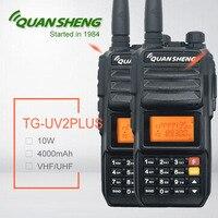 2PCS Walkie Talkie 10W Quansheng TG UV2 PLUS 4000mAh Talki Walki 20KM High Power Ham CB Radio Station Baofeng Transceiver