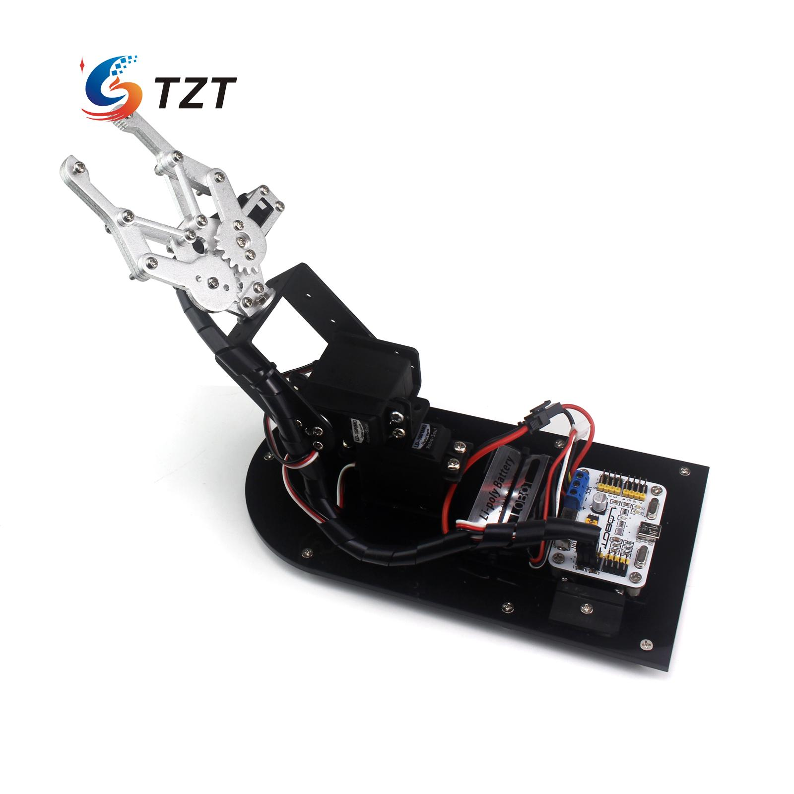 3DOF Robot Arm Mechanical Claw Frame with Base and Servos for Education Teaching DIY hot sale the mechanical arm rotating head base robot arm base free shiping