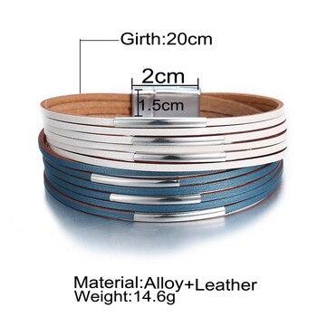Fashion Wrap Couples Bracelet For Women Men Multiple Layers Leather Bracelets 4