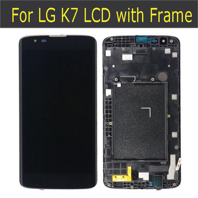 ФОТО For LG K7 MS330 LS675 LCD Screen Display+Digitizer Touch Glass +Frame assembly