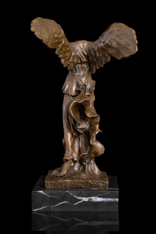 ATLIE Bronzen Sieg Statue Göttin Samothrace Vintage wohnkultur Kunst ...