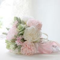 Big Packing Pink White Peony Artificial Flower Bouquet Wedding Bride Bridesmaid Bouquet Flower Event Party Decorative Flower