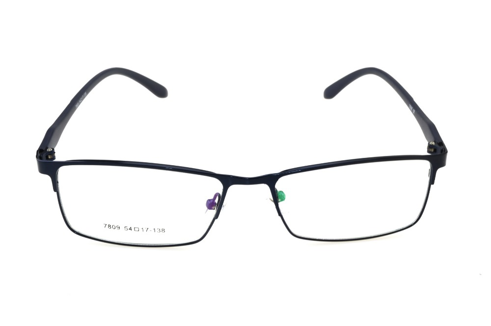 Titanium legering heren brillen frame full-velg optische custom made recept leesbril progressieve meekleurende 1 9
