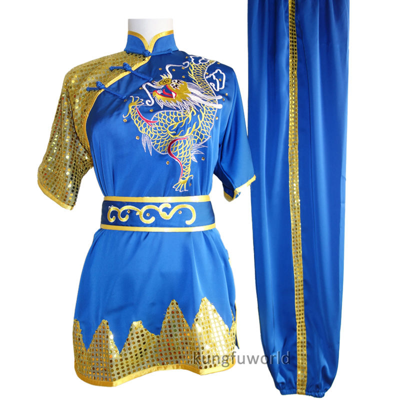 все цены на Performance Competition Kung fu Tai chi Suit Wing Chun Martial arts Wushu Costumes Shaolin Monk Taoist Uniforms онлайн