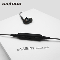 DIY Upgraded Replacement Bluetooth Cable For VJJB N1 Earphone Headphone Cables Adapter Receiver Cord With Microphone