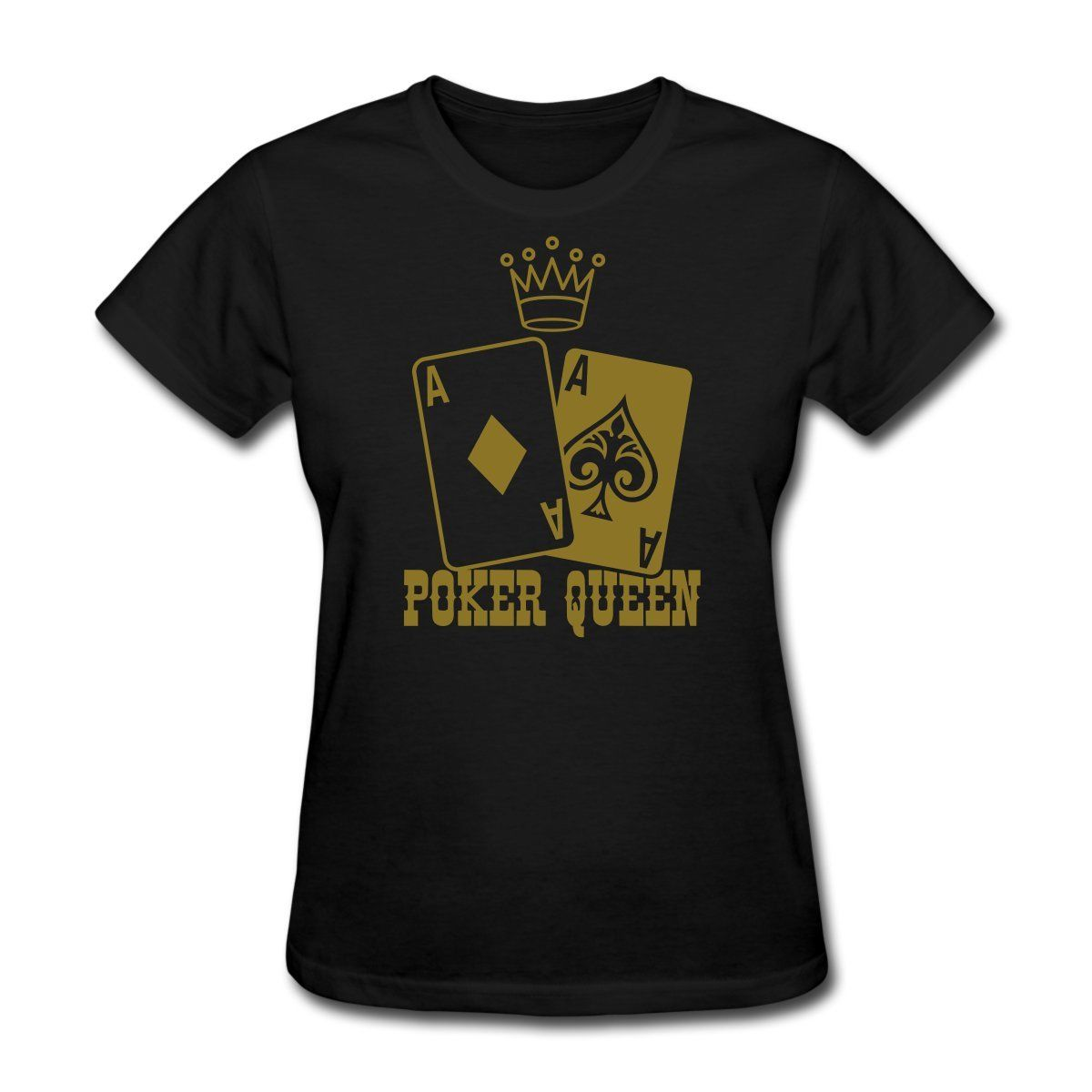Poker - Poker Queen Womens T-Shirt Hot Sell Women Clothing Tops Tee Brand Korean Funny Hiphop Printed Funny T Shirts Women