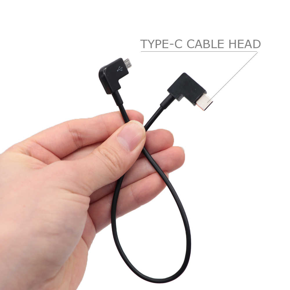 Cable adaptador de Cable de datos para DJI Spark/MAVIC Pro/MAVIC aire/MAVIC 2 Control Micro USB Android/ iluminación para iPhone/accesorio de cable tipo c