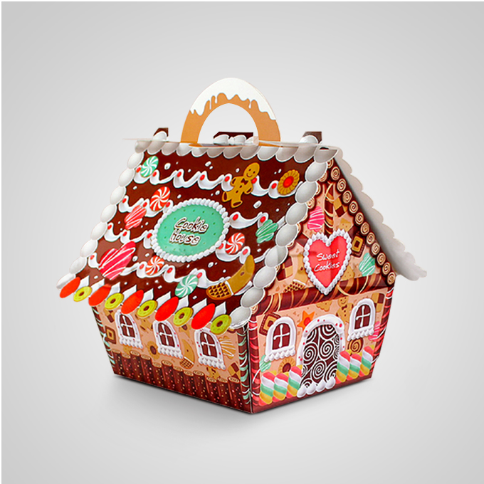 Christmas Gift Packing: Aliexpress.com : Buy 50pcs Small House Candy Boxes