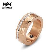 Welmag модные 80 мм Широкие гематитовые магнитные кольца для