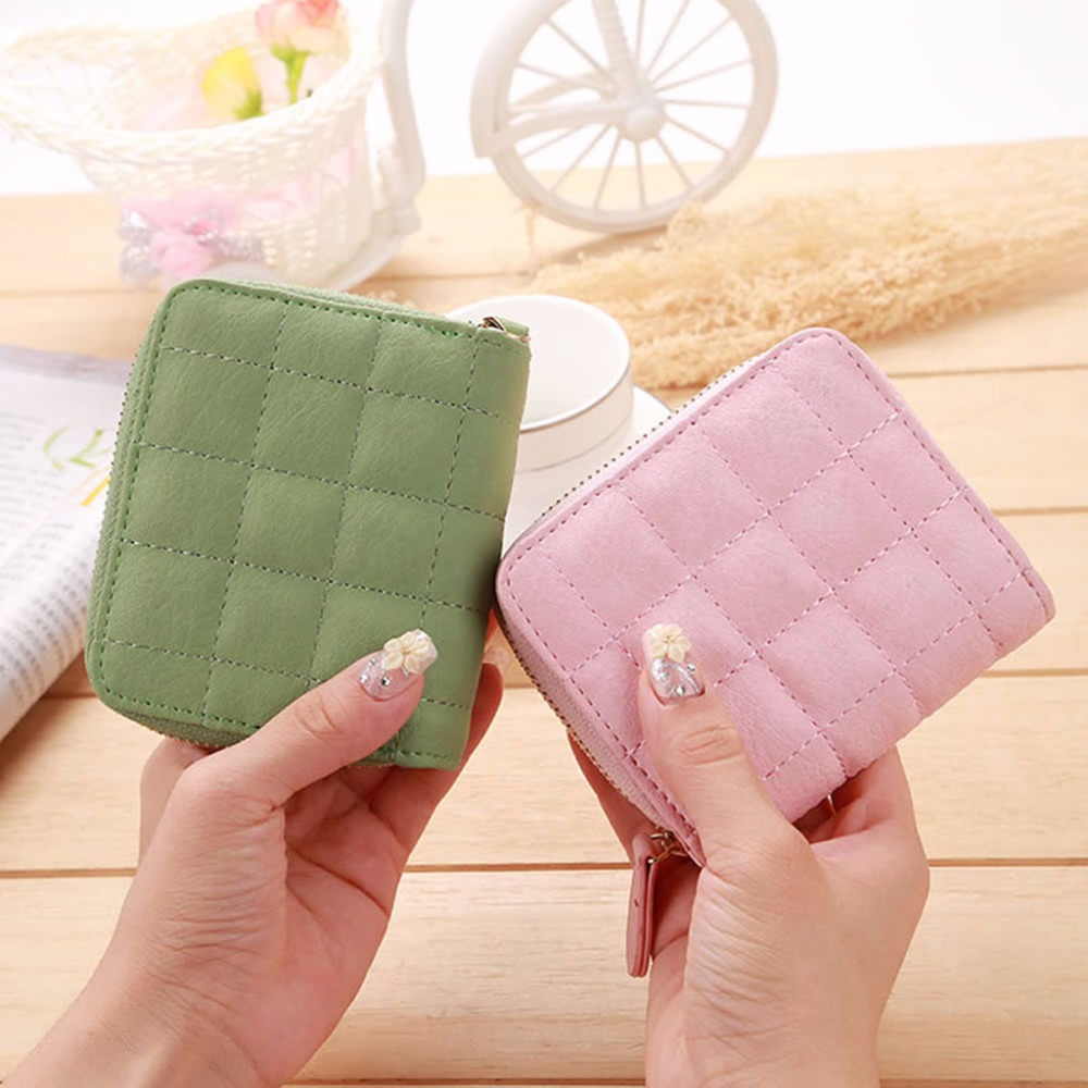 THINKTHENDO Hot Selling Mini Case Purse Lady Women Leather Clutch Wallet Short Card Holder Handbag Coin Bag 6 Color hot selling oversize 1000% bearbrick luxury lady ch be rbrick medicom toy 52cm zy503