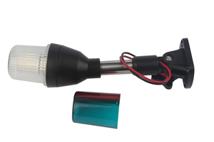 Image 4 - 12V Marine Boat LED Navigation Light Surround Signal Lamp Pontoon Boat Lighting with Adjustable Base 235MM