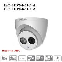 ahua POE IP Camera IPC HDW4433C A IPC HDW4631C A POE 4MP 6MP Network IP Camera Built in MIC 30M IR Night Vision WDR Onvif 2.4