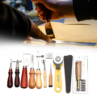 37pcs DIY Home Hand Leathercraft Tool Set Gift Punch Carving Multi Function Portable Accessories Work Saddle Sewing Stitching
