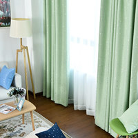 Simple Modern Style Pastoral Curtains Thickening Bedroom Bay Window Living Room Floor Window Shade Fabric Finished