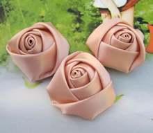 100 шт атласная розовая розетка 4 см