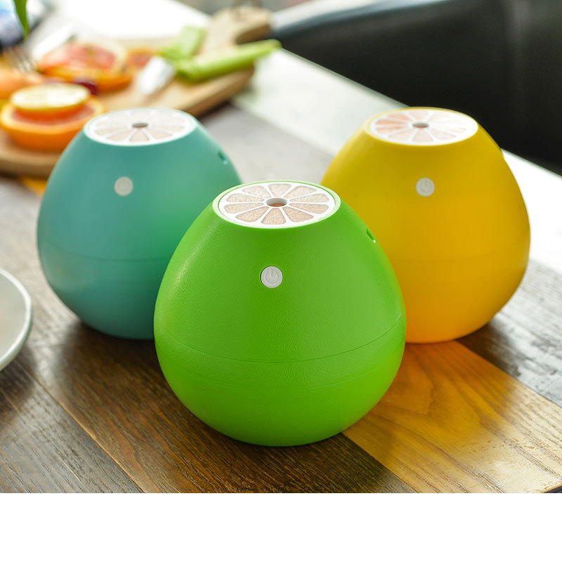 400ml Grapefruit Ultrasonic Humidifier USB Portable DC 5V With LED Light Office Home Car <font><b>Air</b></font> Purifier Mist Maker