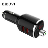 BIBOVI 2 Port Mini USB Car Charger Quick Charge Bluetooth 4.2 Hands Free Car kit For iPhone 7 6s Samsung HTC Xiaomi Compatible