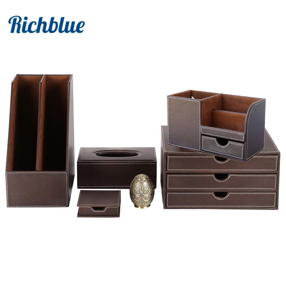 desktop organizer stationery organizer file holder rectangle tissue case pen holder file cabinet t21china