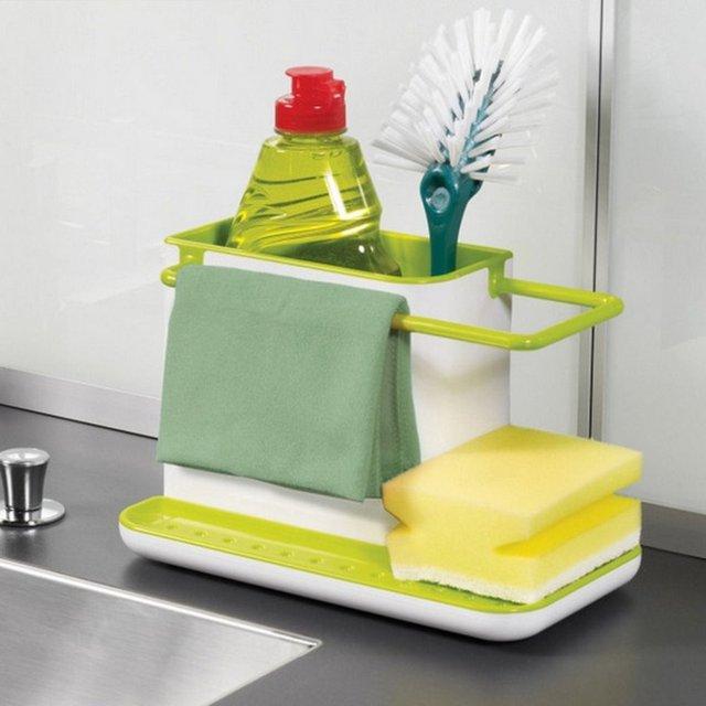Nuevo llega el plástico bastidores organizador mueble fregadero de ...