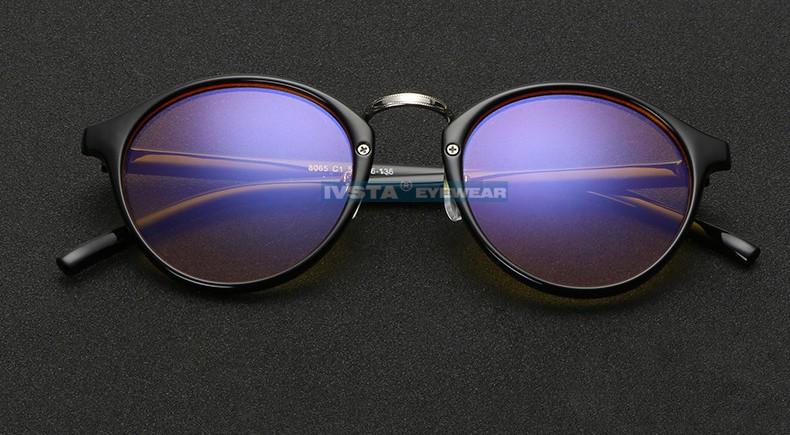 IVSTA Anti Blue Rays Computer Glasses Women Cat Eye Frame Radiation-resistant CR-39 Resin Amber Lenses Anti Fatigue UV400 9065 (13)