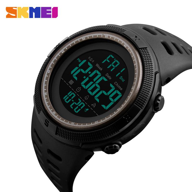 6c59da3c44c Esportes Relógios Homens Dive 50 m Eletrônica Digital LED Relógio Do  Exército Dos Homens Casuais Relógios de Pulso relojes hombre 2018 Marca de Luxo  SKMEI