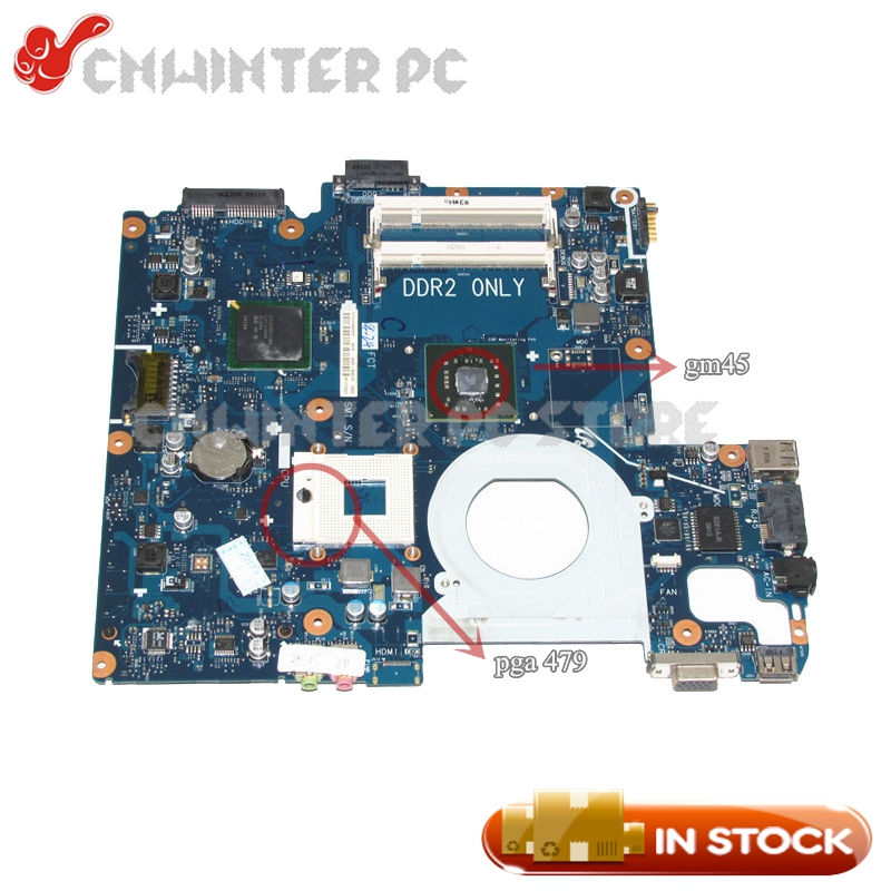 NOKOTION BA92-05467A BA41-00855A For Samsung NP-R510 R510 Laptop Motherboard GM45 DDR2 Free CPU la 5971p for lenovo g455 laptop motherboard hd 4250m ddr2 free cpu